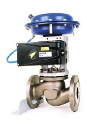D3 positioner mounted on linear actuator