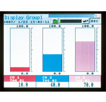 bargraph on PHF paperless recorder