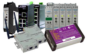 Range of industrial ethernet products