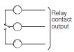 SPDT relay contact output